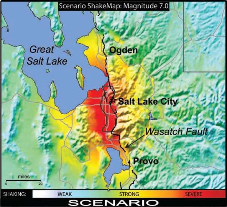 Utah Shake Map